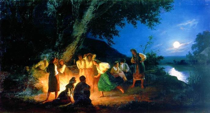 Картина Г.Семирадского: «Ночь накануне Ивана Купалы»