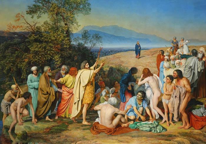Крещение в водах Иордана: А.Иванов «Явление Христа народу (Явление Мессии)»