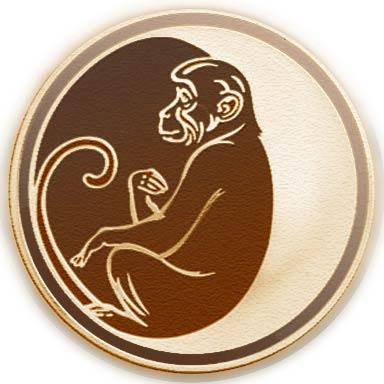 Год Обезьяны, монета. Цикл Лунный календарь