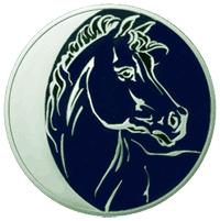 Год Лошади, цикл Лунный календарь, монета, Россия, 3 руб. серебро, реверс