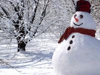 Декабрь. Снеговик