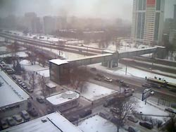 Москва 31 декабря 2014. Рублевское шоссе