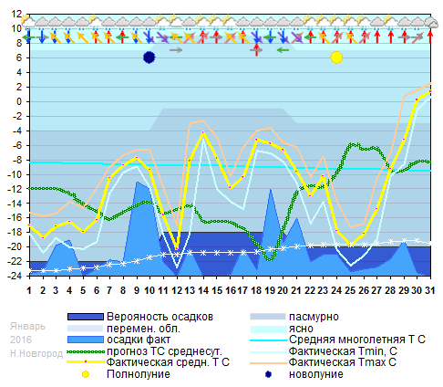 График температуры январь 2016