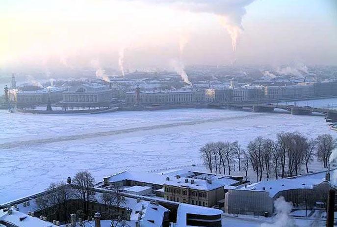 Санкт-Петербург. Васильевский остров. Стрелка и Биржевой мост