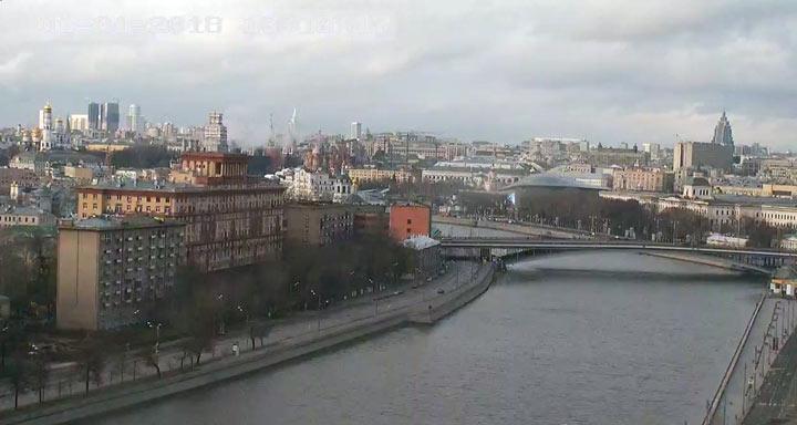 Москва. Малоснежная зима 2017-2018