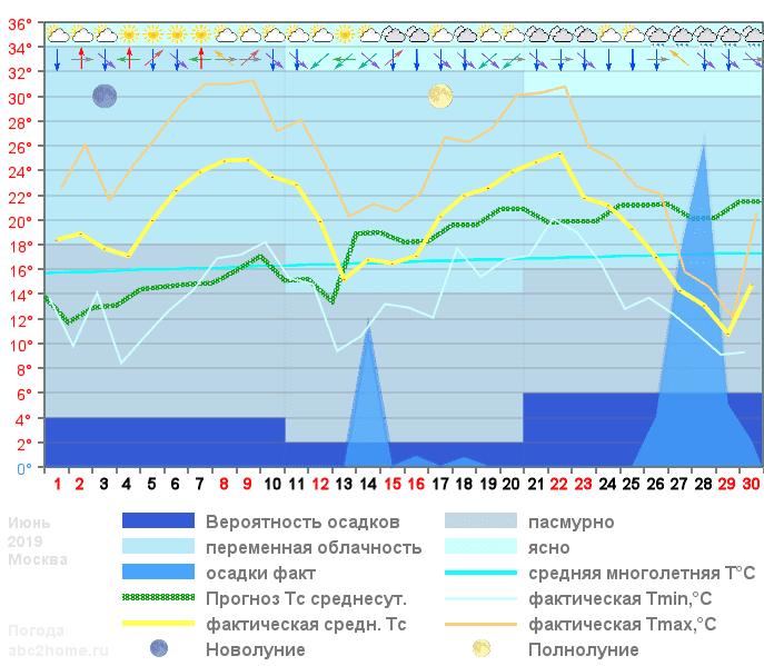 График температуры июнь 2019, msk