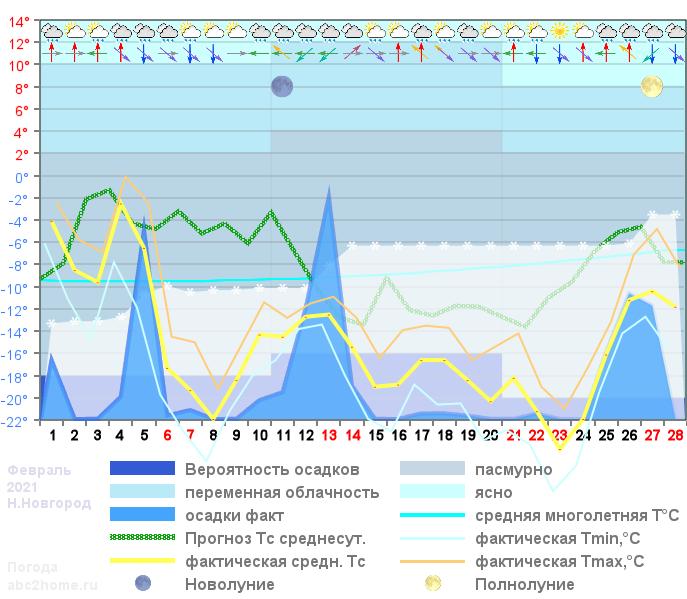 График температуры февраль 2020