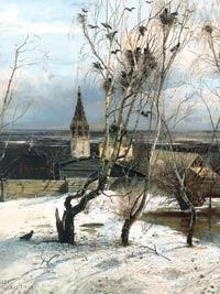 Весна наступает с прилетом грачей - Саврасов - Грачи Прилетели