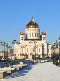 Зима в Москве. Храм Христа Спасителя