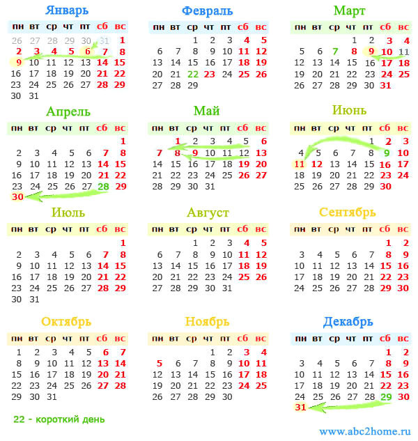 Календарь на 2017 год с праздниками в мае