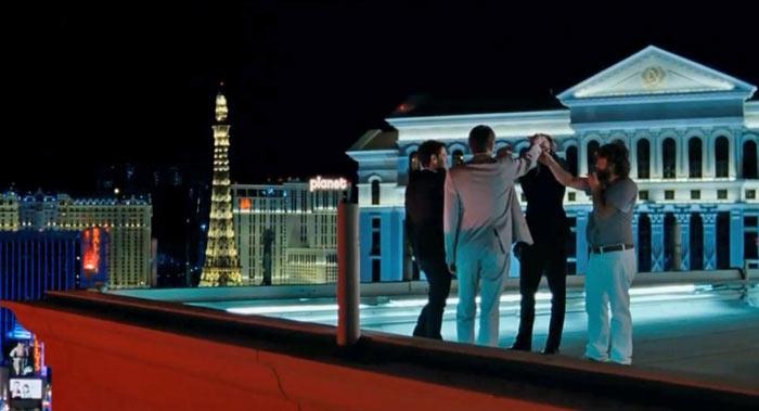 Мальчишник в Вегасе. Тост на крыше отеля