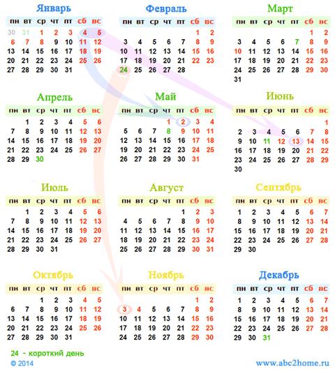 Календарь праздники 2014 мал.