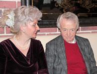 Лион Измаилов и ведущая Светлана.