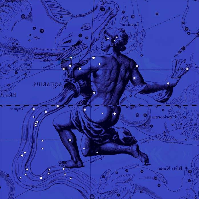 Созвездие Водолей. Коллаж по атласу Яна Гевелия