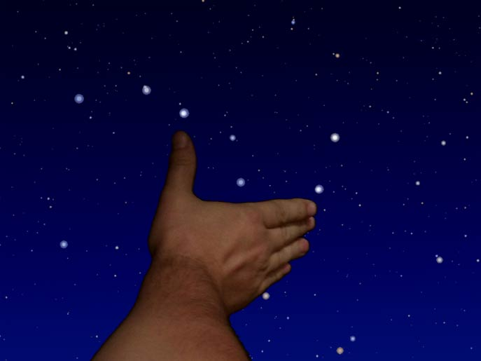 The angular size of the asterism Big Dipper