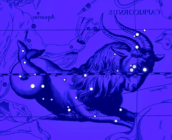 Созвездие Козерог. Коллаж по атласу Яна Гевелия