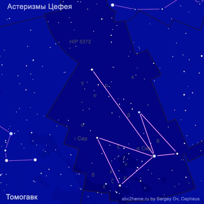 Томогавк, астеризм, Цефей