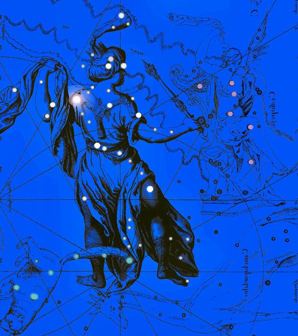 Созвездие Цефей. Коллаж по атласу Яна Гевелия