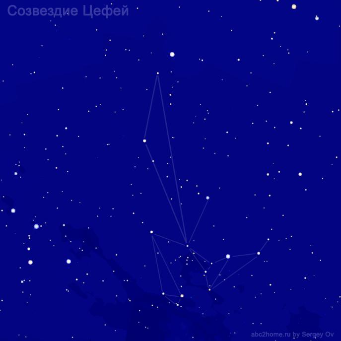 Созвездие Цефей, звезды созвездия Цефея