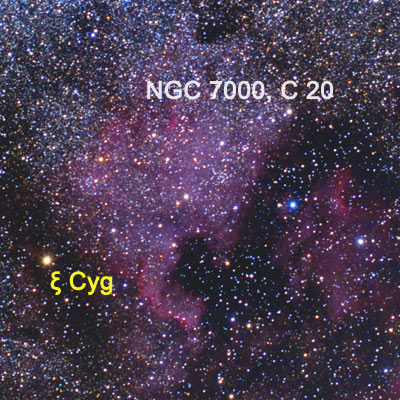 Туманность Северная Америка (NGC 7000, Колдуэлл 20, C 20)