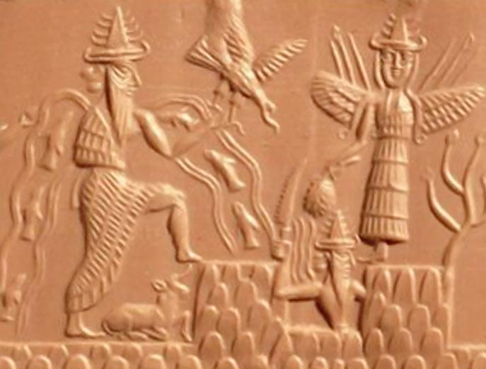 Фрагмент оттиска каменной печати с Козерогом