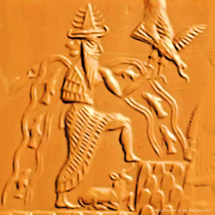 Фрагмент оттиска каменной печати Эдда