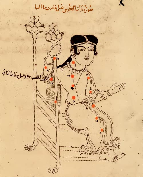 Созвездие Кассиопея. Иллюстрация из «Книги неподвижных звезд» ас Суфи