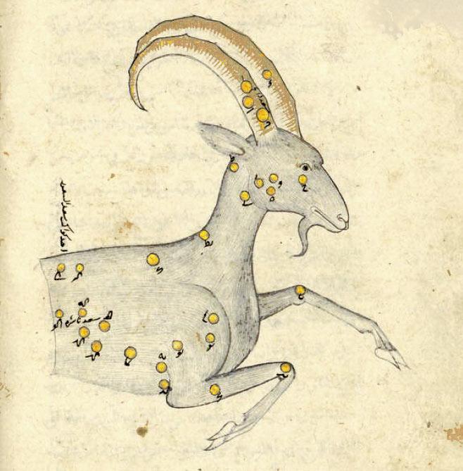 Созвездие Козерог в 'Книге неподвижных звезд' ас-Суфи