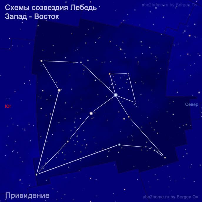 Схема созвездия Лебедь: Привидение