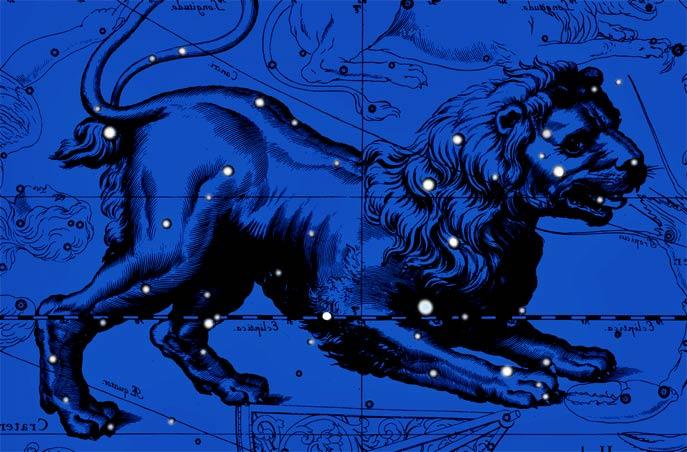 Созвездие Лев. Коллаж по атласу Яна Гевелия