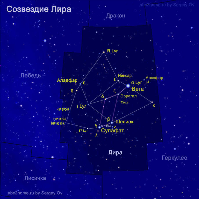 Созвездие Лира, рис. 2.Lyr