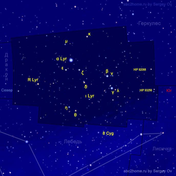 Обозначения звезд Лиры