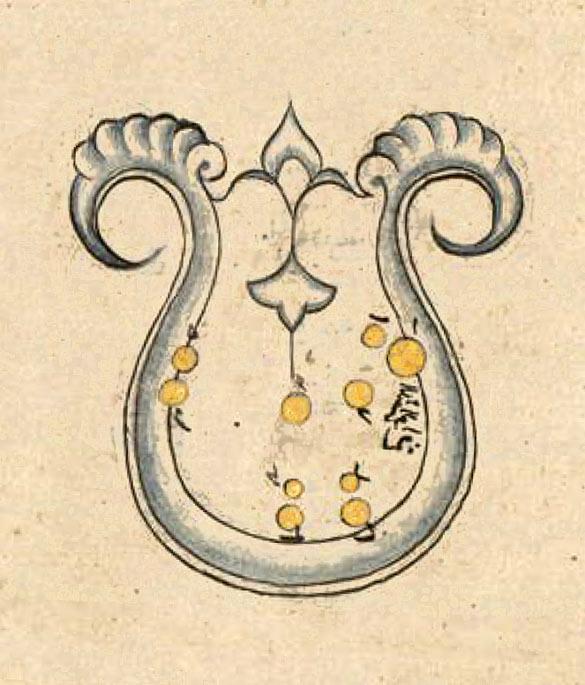 Созвездие Лира. Иллюстрация из «Книги неподвижных звезд» ас Суфи