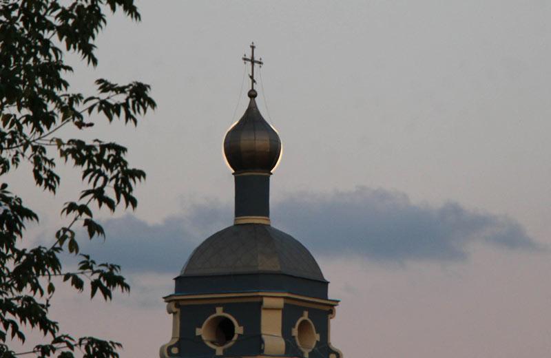 Супер-Луна за маковкой храма 7 сентября 2014 ©  abc2home.ru by Sergey Ov