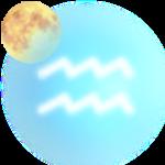 Луна в Водолее символ