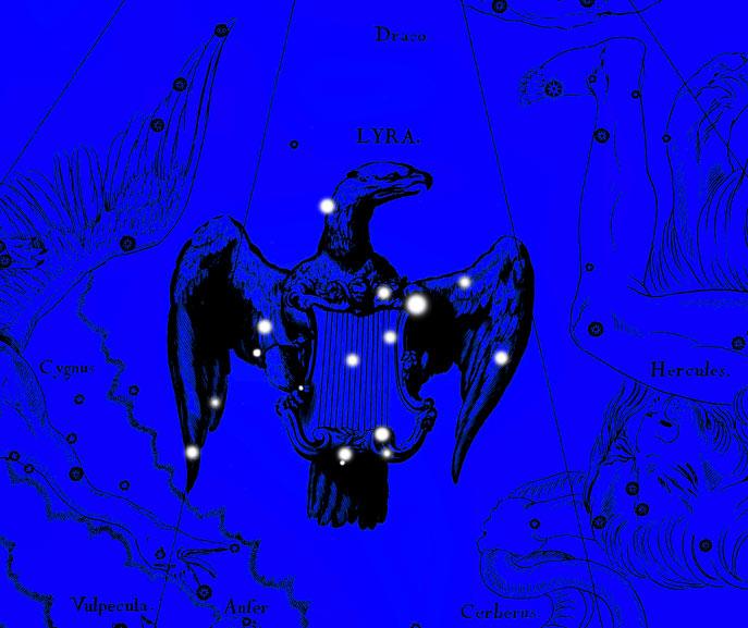 Созвездие Лира. Коллаж по атласу Яна Гевелия