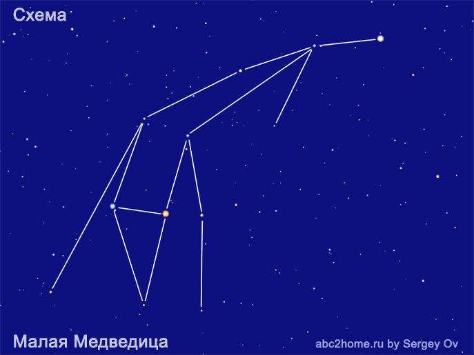 Схема созвездия Малая Медведица