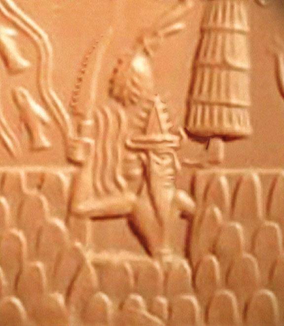 Шамаш - бог Солнце с огненным мечом