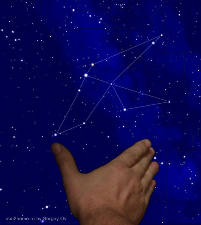 угловой размер созвездия Орел