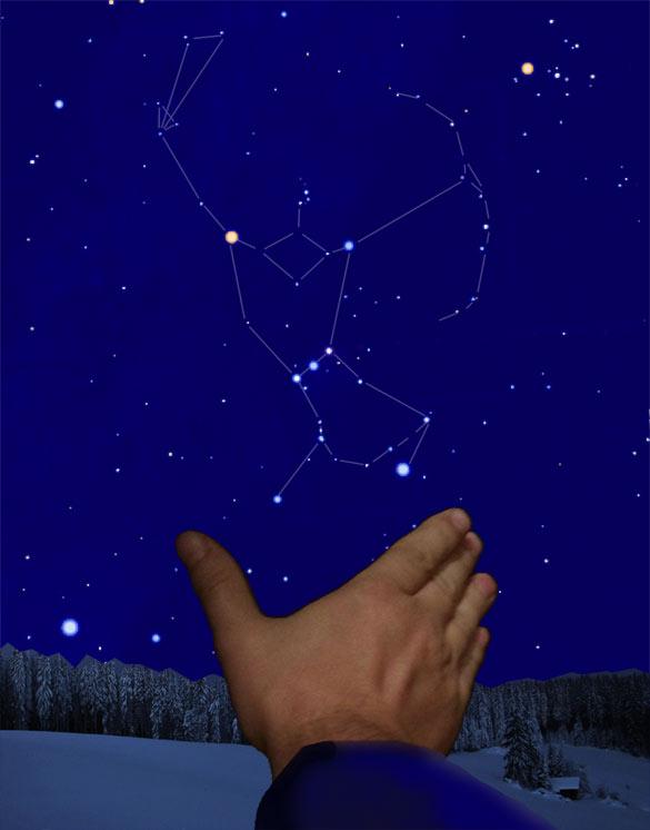 Угловой размер созвездия Орион