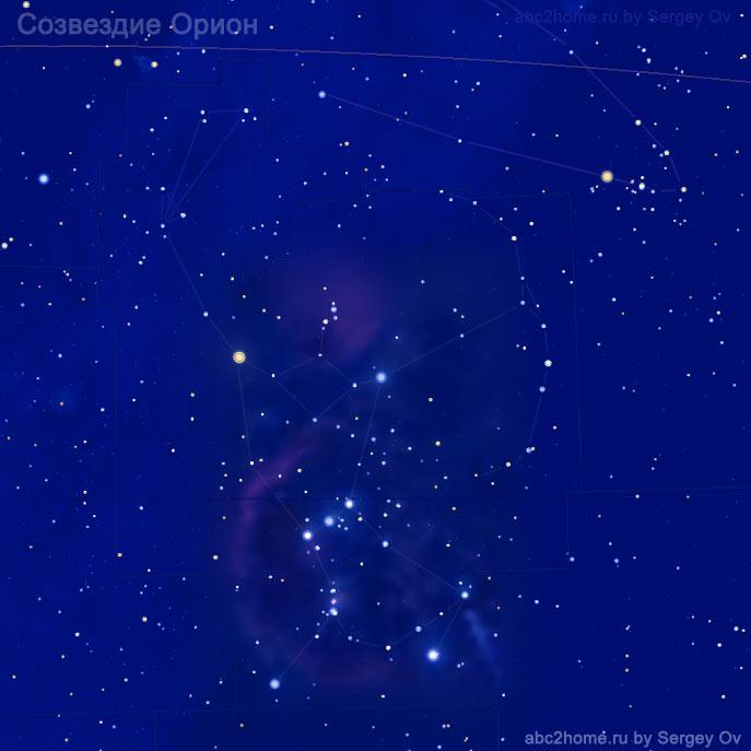 Созвездие Орион, звезды созвездия Ориона