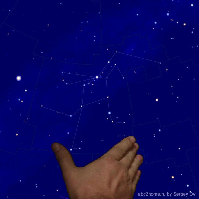 Угловой размер созвездия Персей