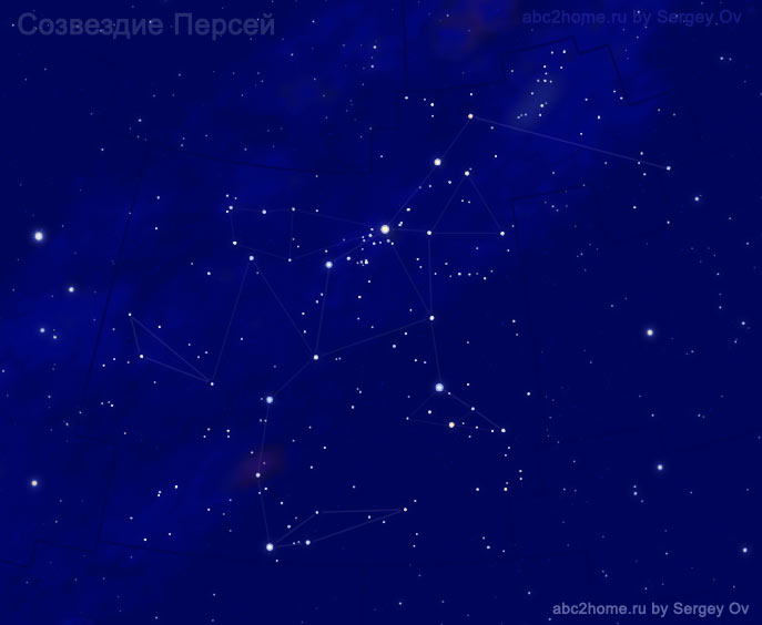 Perseus Constellation, Stars of the constellation Perseus