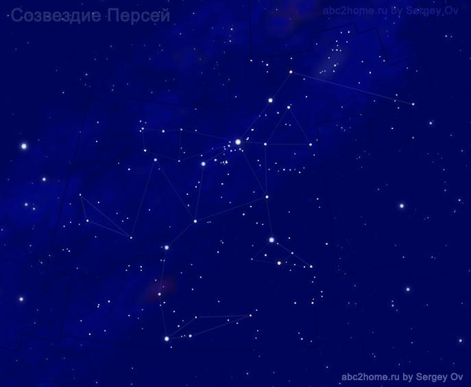 Созвездие Персей, звезды созвездия Персея