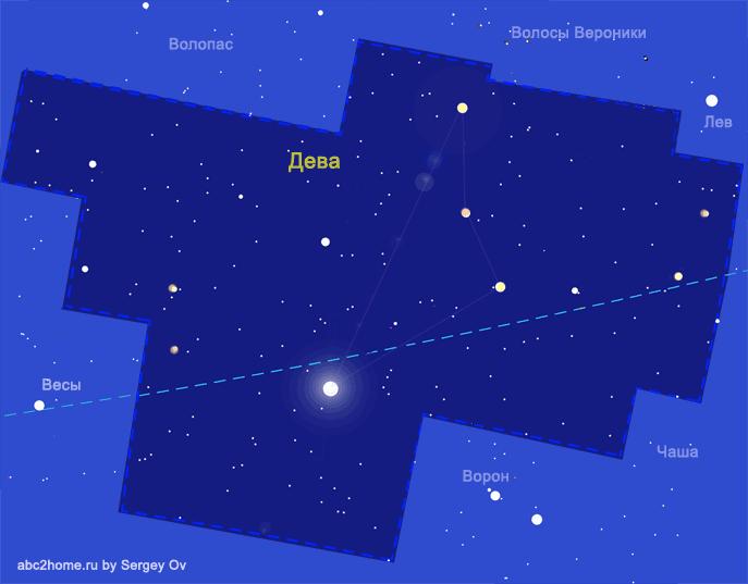 Созвездие Дева, звезды и только звезды Девы