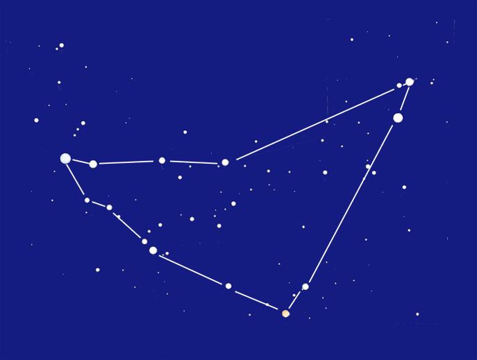 Созвездие Козерог, контур 'Рог'