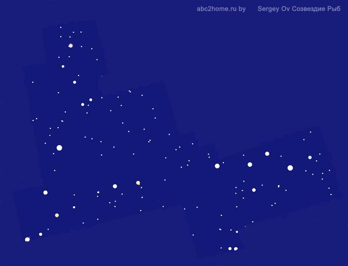 Созвездие Рыбы, звезды и только звезды Рыб