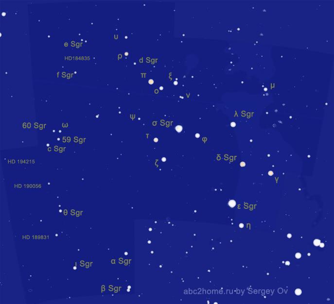 Созвездие Стрелец, звезды и только звезды Стрелецa