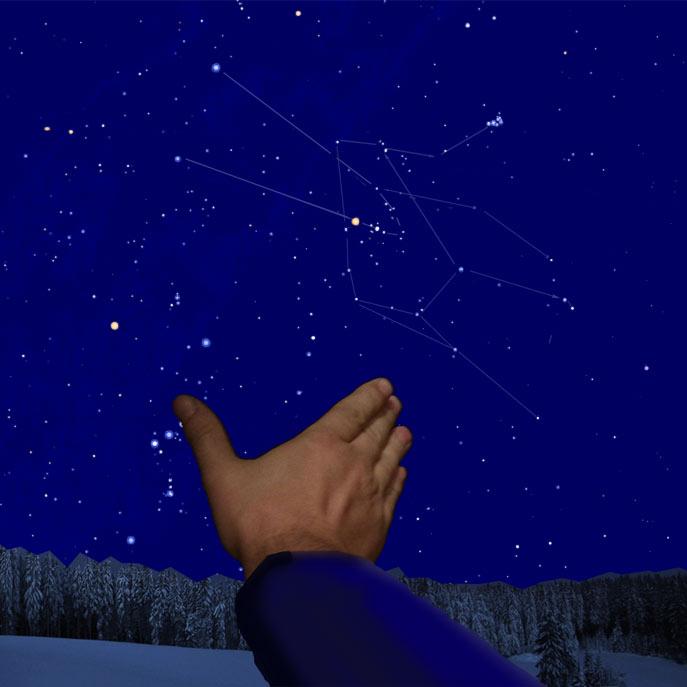 Угловой размер созвездия Телец