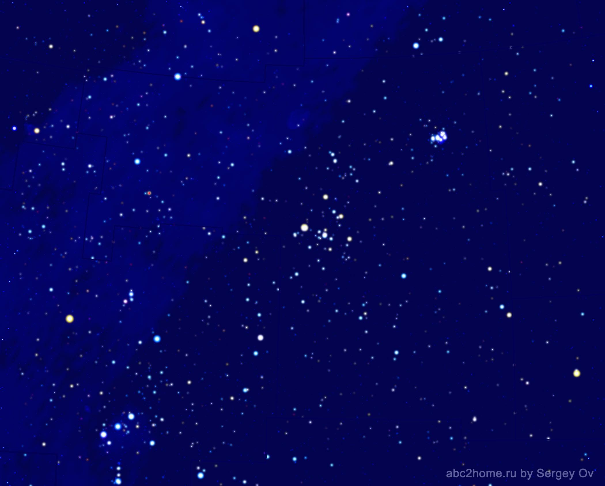 Созвездие Телец, звезды созвездия Тельца, рис. 2.1.Tau